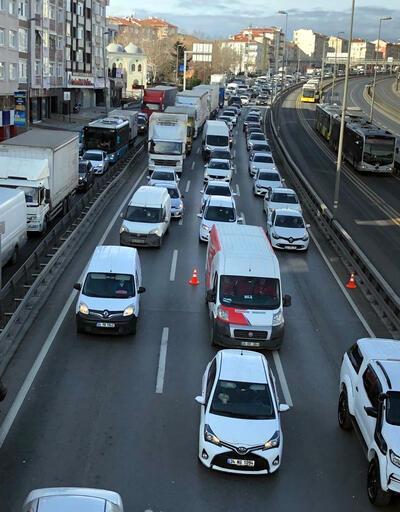 Kısıtlamaya rağmen D-100'de şaşırtan trafik
