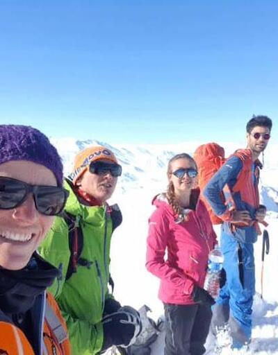 Artos Dağı zirvesinde kayak keyfi