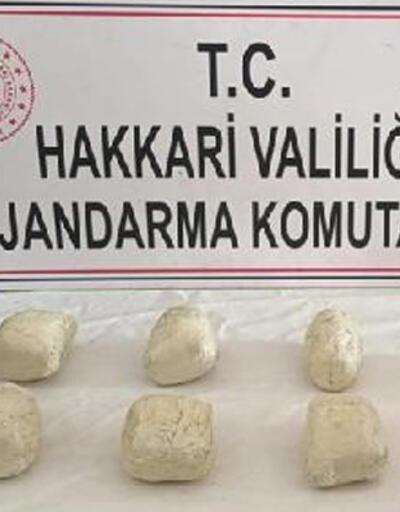 Yüksekova'da kara gömülü bidonda 8 kilo eroin ele geçirildi