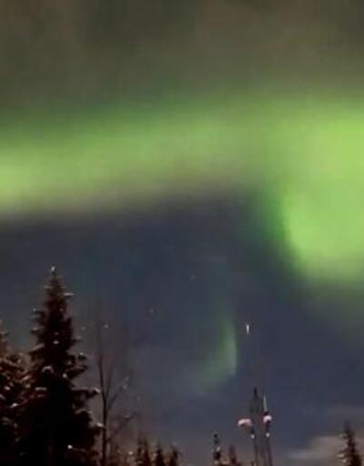 Alaska'da Kuzey Işıkları'nın şovu göz kamaştırdı