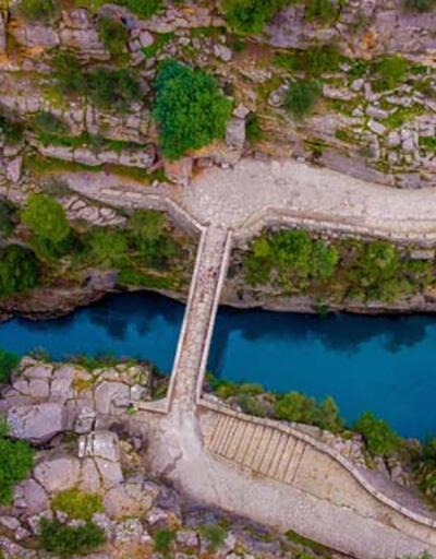 Köprülü Kanyon'da kış manzarası