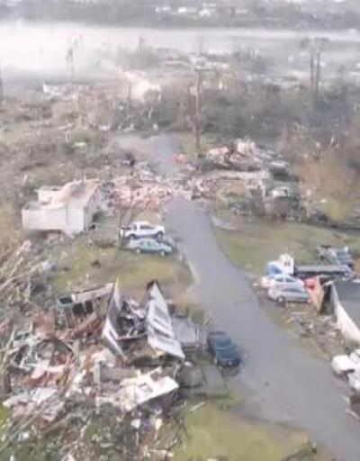 ABD'de kasırga felaketinin boyutu drone ile görüntülendi