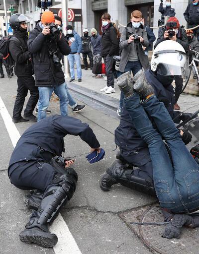 Görüntüler Avrupa'nın başkentinden! 300 kişi gözaltına alındı