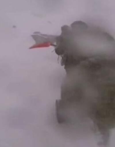 Mehmetçiğin, 3 bin metrede eksi 30'da karla mücadelesi