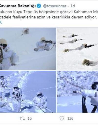 Mehmetçik zorlu kış şartlarında terörle mücadelesini sürdürüyor