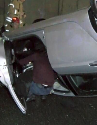Alkollü sürücü bariyere çarptı