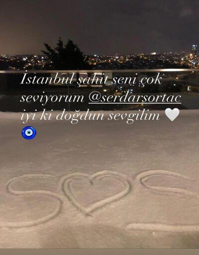 Seçil Gür'den Serdar Ortaç'a romantik doğum günü kutlaması