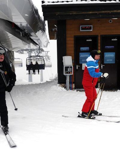 Putin ile Lukaşenko bir araya geldi! Kar motosikletli diplomasi