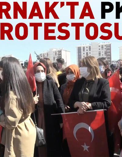Şırnak'ta PKK protestosu
