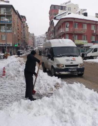 Konya'nın 6 ilçesinde, yüz yüze eğitime kar engeli