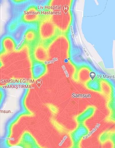 Samsun'da risk haritası 2 ay sonra yeniden 'kırmızı'
