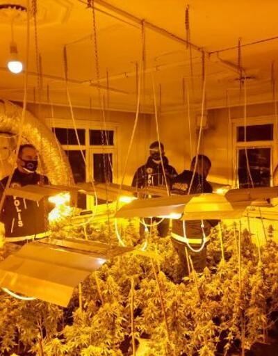 Çatı katında 1 milyon TL'lik uyuşturucu