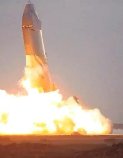 SpaceX'in aracı Starship inişten sonra infilak etti