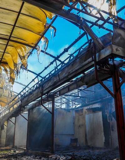 Antalya Festival Çarşısı'nda korkutan yangın