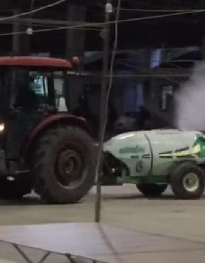 Çan Belediyesi ekipleri, dezenfekte çalışmalarına devam ediyor