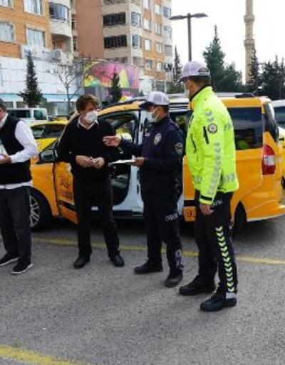 Kahramanmaraş'ta ticari taksilere korona denetim