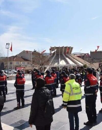 Çan'da hep bir ağızdan İstiklal Marşı okundu