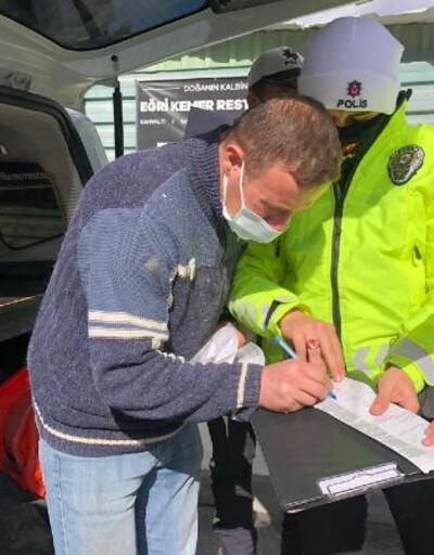 Belgesi olmayan hafriyat kamyonu şoförlerine ceza yağdı