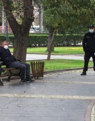 Karantinayı ihlal etti, parkta otururken yakalandı