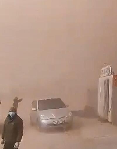 Kazakistan'da kum fırtınası