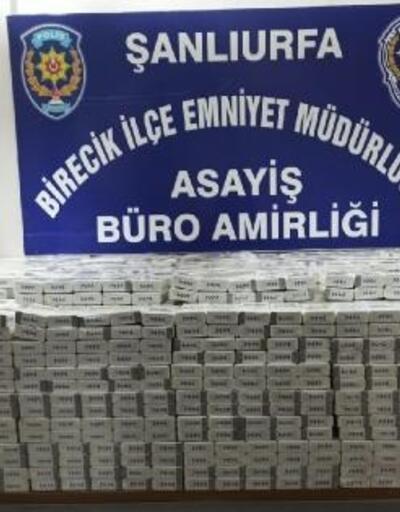 Birecik'te 3 bin 350 paket kaçak sigara ele geçirildi