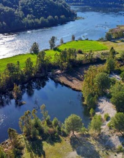 Ceyhan Nehri ilkbaharın renk cümbüşünü yansıtıyor