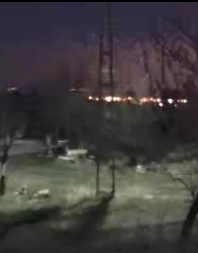 O anlar kamerada: Kayseri'de ışık hüzmesi bölgede heyecan yarattı