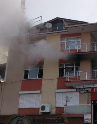 Evde çıkan yangın büyümeden söndürüldü