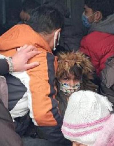 Kapalı kasa minibüste 38 kaçak göçmen yakalandı