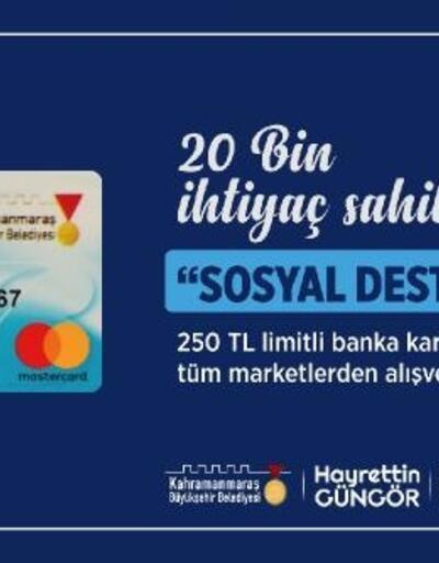 İhtiyaç sahiplerine 5 milyon liralık sosyal destek kartı