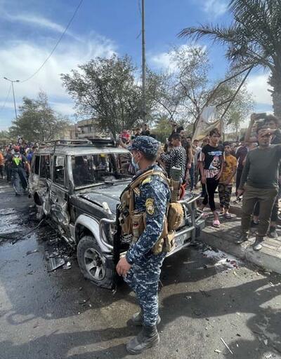 Bağdat'ta bomba yüklü araç patladı: Ölü ve yaralılar var