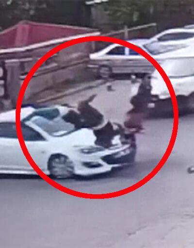 Esenyurt'taki motosiklet kazası kamerada