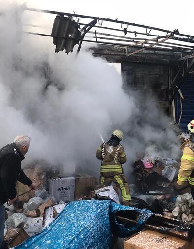 Rami'deki gıda toptancıları merkezinde yangın