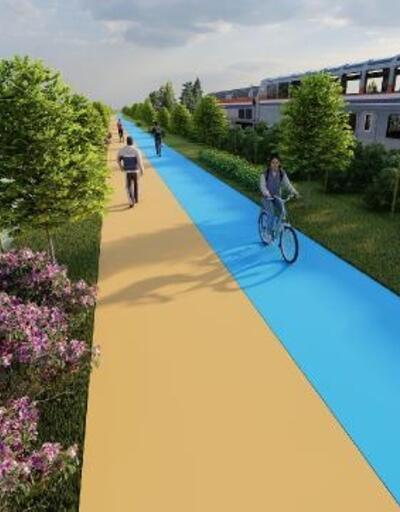 Bahçeşehir Gölet'te yürüyüş ve bisiklet yolu bir arada