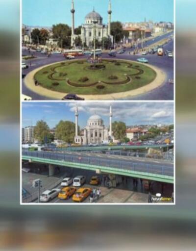 Aynı yerde, aynı kadraj ile aynı kareler... Eski İstanbul ve bugün
