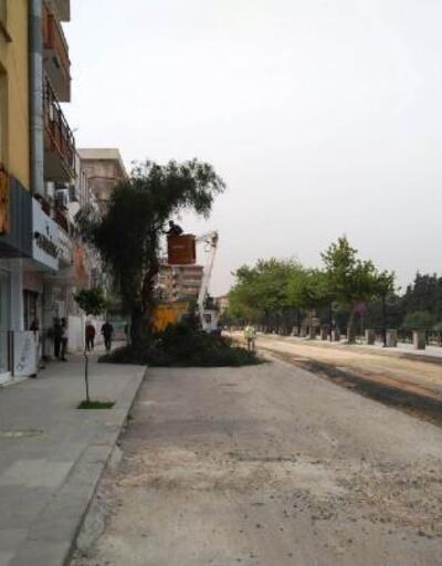 İnönü Caddesi'nde beton asfalt hazırlıkları