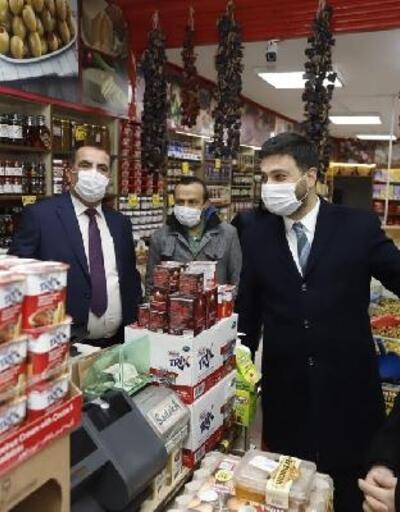 Kağıthane'de iş yeri tam kapalı esnafa maddi destek