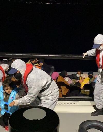 İzmir açıklarında 30 düzensiz göçmen kurtarıldı