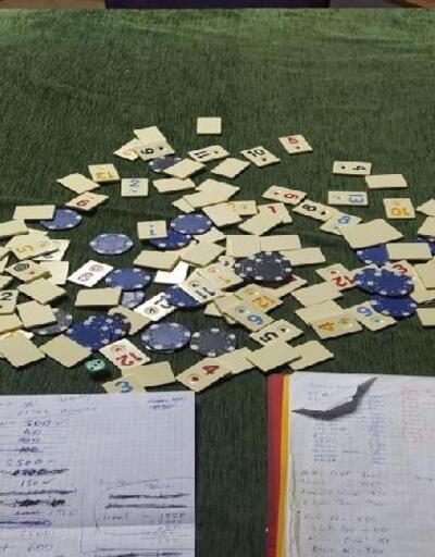 Denizli'de kumar oynarken yakalanan 9 kişiye toplam 12 bin 24 lira ceza