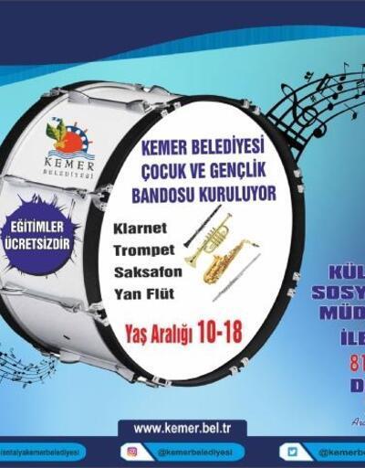 Kemer Belediyesi Çocuk ve Gençlik Bandosu kuruluyor