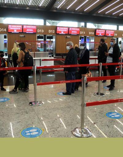 İstanbul Havalimanı'nda tam kapanma hareketliliği