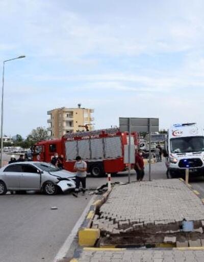 Kumluca'da kaza: 1 yaralı