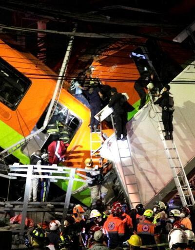 Meksika'da metro üst geçidi çöktü: Ölü ve yaralılar var