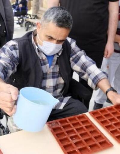 Engelli Bakım Merkezi'nde sabun üretildi