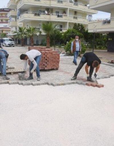 Konaklı'nın cadde ve kaldırımları yenileniyor