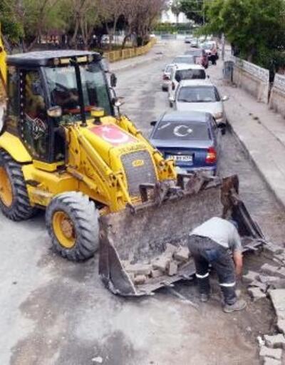 Tarsus'ta yol çalışmalarına hız verildi