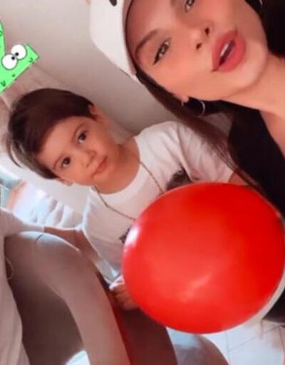 Almeda Abazi ve Tolgahan Sayışman oğullarının doğum gününü kutladı