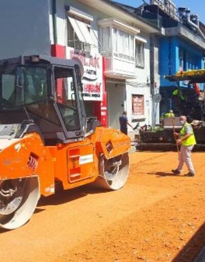 Mudanya'da yollar yenileniyor