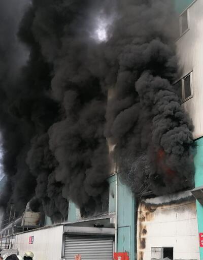 Dumanlar gökyüzünü kapladı! İstanbul'da fabrikada yangın
