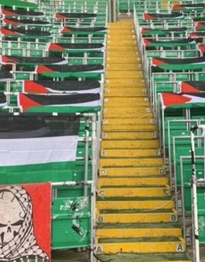 Celtic taraftarı, Filistin bayraklarını kaldıran yönetime tepki gösterdi